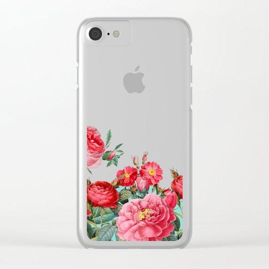 Fab Floral Clear iPhone Case