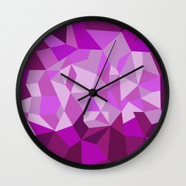 Pink Purple Diamond Illustration Wall Clock