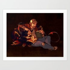 Reading to Hellhounds Art Print