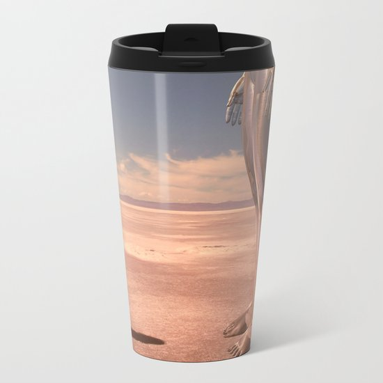 Chloe meets a giant but no one will believe her. Metal Travel Mug