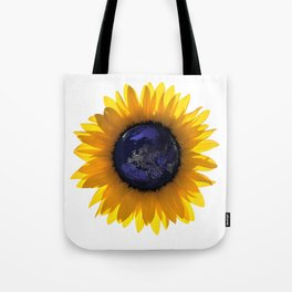 Sunflower Eclipse Earth Sun Tote Bag