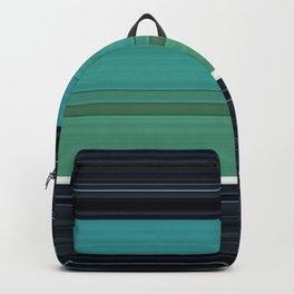 Solid Aqua Teal Black Stripes Backpack
