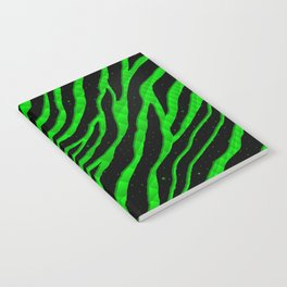 Ripped SpaceTime Stripes - Green Notebook