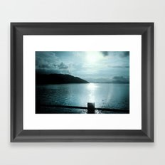 SUNSET RIVER Framed Art Print