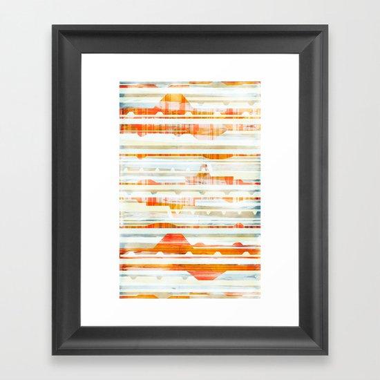 Huts Framed Art Print