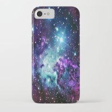 Fox Fur Nebula : Purple Teal Galaxy iPhone 7 Slim Case