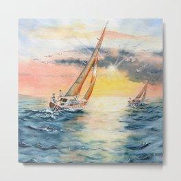 Sailing To The Sunset  Metal Print