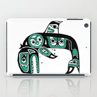 native american iPad Cases featuring Native American Orca by Steven Womack