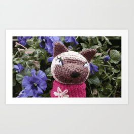 Amigurumi crochet cat design Art Print