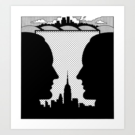 The Contact Art Print