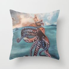Illusory Island Throw Pillow