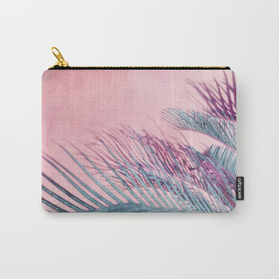 Velvet Pink Palms Carry-All Pouch