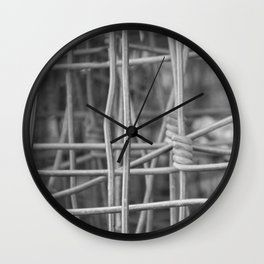 Twisted in Fence Wall Clock