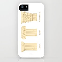 Columns - Creme iPhone Case