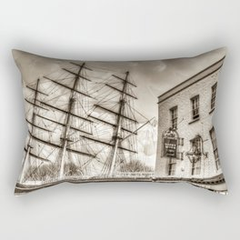 The Cutty Sark and Gypsy Moth Pub Rectangular Pillow