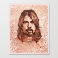 dave grohl Canvas Prints featuring Dave Grohl by Renato Cunha