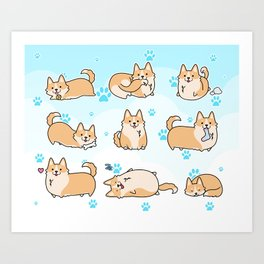 I love corgis Art Print