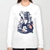 sandman Long Sleeve T-shirts featuring Ole Lukøje by Xenia Pirovskikh