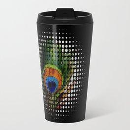 BLACK PEEKING PEACOCK Travel Mug
