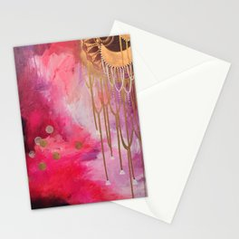 Love Bomb Original Painting by Rachael Rice Stationery Cards