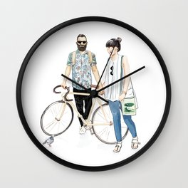 Amsterdam hipsters Wall Clock