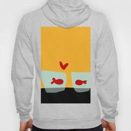 Fishes in love Hoody