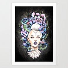 Snake Head Art Print
