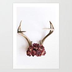 Floral Antlers II Art Print