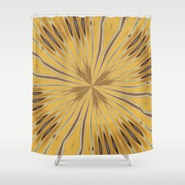 Yellow and Ochre Flower Pattern Abstract 2 Shower Curtain