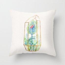 Terrarium III Throw Pillow