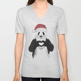 Santa panda Unisex V-Neck