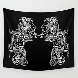 Maya Serpent Black Wall Tapestry