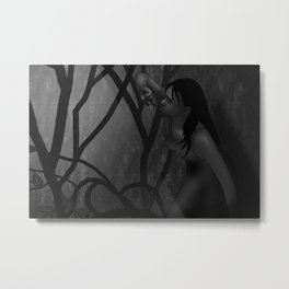 Hiding From the Rain Metal Print