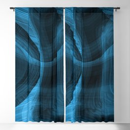 Bluish Black Hole Blackout Curtain