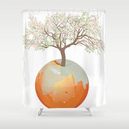 Earth - Apple tree Shower Curtain
