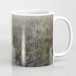 wet spider web Coffee Mug