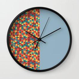 Retro Bicolore Geometric Design Wall Clock