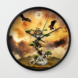 The Beauty Eagle Flying Wall Clock