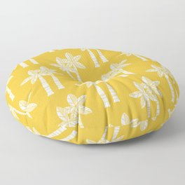 Palm Tree Pattern Mustard Yellow Floor Pillow