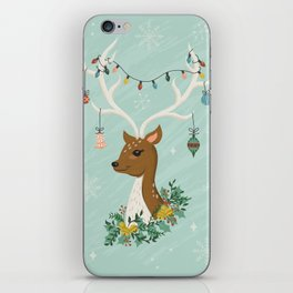 Vintage Inspired Deer with Decorations iPhone Skin