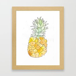 Pineapple (Painting the Hunger Away Project) Framed Art Print