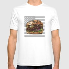 USburger Mens Fitted Tee White MEDIUM