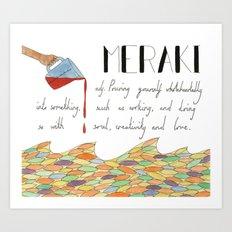 Meraki Art Print