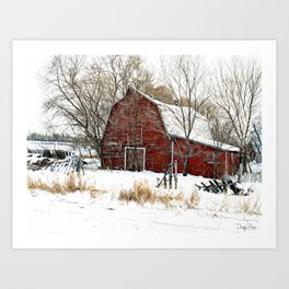 A Cold Day in December Art Print