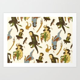 All the Lokis Art Print