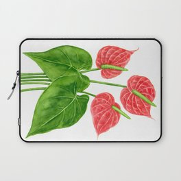 Flamingo flower watercolor Laptop Sleeve