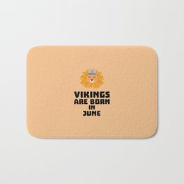 Vikings are born in June T-Shirt Dni2i Bath Mat