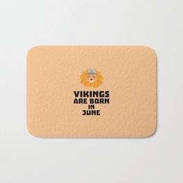 Vikings are born in June T-Shirt Dni2i Bath Mat