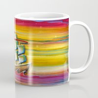neverland Mugs featuring Off To Neverland! by Cindy Thornton