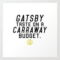 Gatsby Taste Art Print
